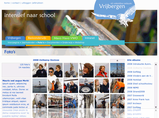 Fotoalbums in het Vrijbergen Intranet